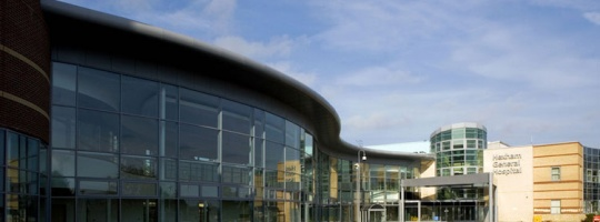 Hexham Hospital Northumbria . 50 bed community hospital. £50m. Project Architect
